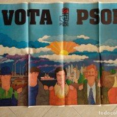 Carteles Políticos: CARTEL VOTA PSOE FELIPE GONZÁLEZ ELECCIONES AÑO 1977. 140 X 100 CMS. JOSÉ RAMÓN SÁNCHEZ. Lote 180348678