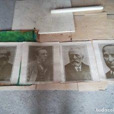 Carteles Políticos: LOTE CUATRO LÁMINAS POSTERS ILUSTRES SOCIALISTAS. Lote 180937425
