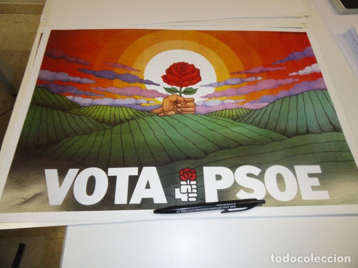 CARTEL CAMPAÑA PSOE. VOTA PSOE (Coleccionismo - Carteles gran Formato - Carteles Políticos)