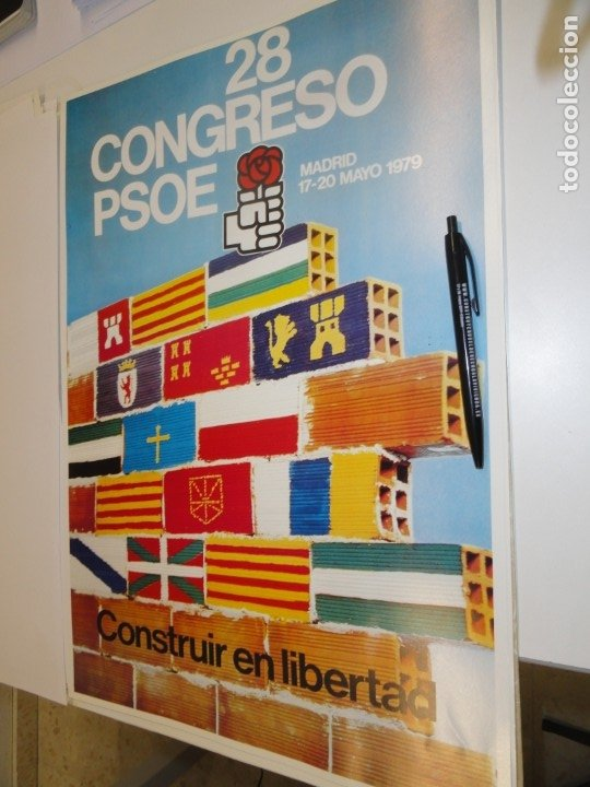 CARTEL CAMPAÑA PSOE. 28 CONGRESO 1979 (Coleccionismo - Carteles gran Formato - Carteles Políticos)