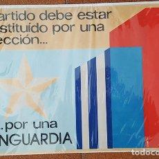 Carteles Políticos: CARTEL POLITICO PARTIDO COMUNISTA CUBANO PCC CIUDAD DE LA HABANA CUBA 41 X 60 CM CAMILO POSTER. Lote 183068886