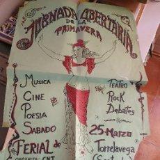 Carteles Políticos: JORNADA LIBERTARIA DE LA PRIMAVERA, ORGANIZA C.N.T. EN TORRELAVEGA, SANTANDER, AÑOS 70-80. Lote 183484353