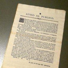 Carteles Políticos: NUMULITE AVISO AL PÚBLICO AYUNTAMIENTO CIUDAD DE GERONA GIRONA AULAS DE LATIN LATINIDAD 17.... Lote 183611043