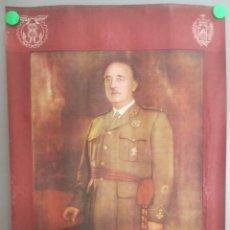 Carteles Políticos: CARTEL POLITICA FRANCO COMERCIO E INDUSTRIA DE VALENCIA A LAS ORDENES DE SU CAUDILLO FRANCO 1962 CP6. Lote 183714467