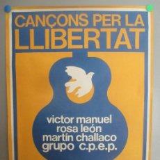 Carteles Políticos: CARTEL POLITICA CANÇONS PER LA LLIBERTAT PARTIDO COMUNISTA 1977 POLITICOS. Lote 183715095
