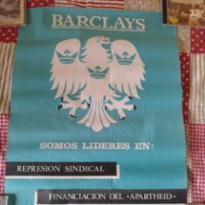 Carteles Políticos: CARTEL CNT CONTRA BARCLAYS 65X46. Lote 184708977