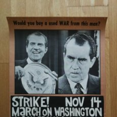 Carteles Políticos: MÍTICO CARTEL PÓSTER ANTI GUERRA DE VIETNAM Y NIXON - WOULD YOU BUY A USED WAR FROM THIS MAN? 1969. Lote 189618287