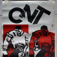 Carteles Políticos: CNT - CARTEL O POSTER CONFEDERACION NACIONAL DE TRABAJO - LIBERTAD - AÑO 1977. Lote 190138035