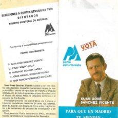 Carteles Políticos: PARTIU ASTURIANISTA ( PAS ). FOLLETO ELECTORAL DE 1989. Lote 191221505