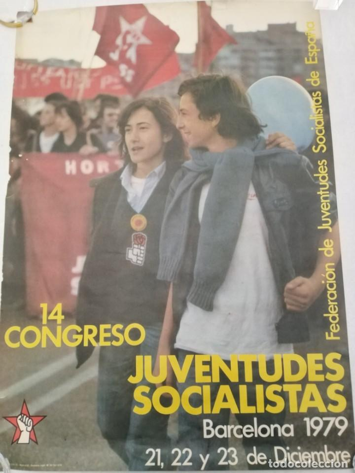 XIV CONGRESO JUVENTUDES SOCIALISTAS BARCELONA 1979 (Coleccionismo - Carteles gran Formato - Carteles Políticos)