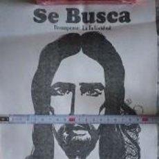 Affissi Politici: PÓSTER SE BUSCA JESÚS DE NAZARET AÑOS 1970 1980 ¿FOTOCOPIA?. Lote 191877313