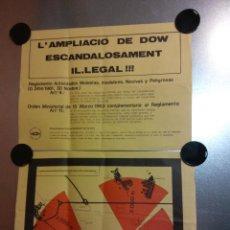Carteles Políticos: L'AMPLIACIÓ DE DOW ESCANDALOSAMENT IL·LEGAL!!! 2 CARTELES. Lote 192444791