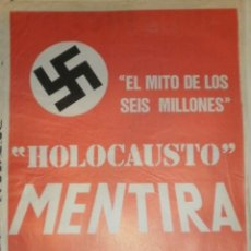 Carteles Políticos: CARTEL HOLOCAUSTO MENTIRA. Lote 192847012