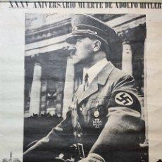 Carteles Políticos: PÓSTER CARTEL XXXV ANIVERSARIO MUERTE DE ADOLF HITLER CEDADE ADOLFO NAZI. Lote 195001963