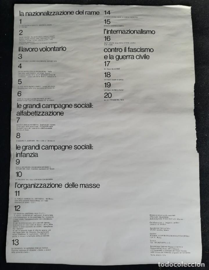Carteles Políticos: CARTEL 49 x 69 cms. 1975 ASSOCIAZIONE ITALIA-CILE SALVADOR ALLENDE - Foto 10 - 195291217