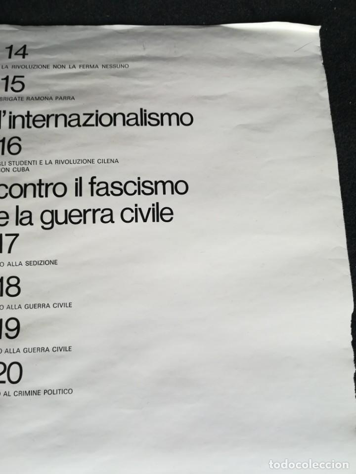 Carteles Políticos: CARTEL 49 x 69 cms. 1975 ASSOCIAZIONE ITALIA-CILE SALVADOR ALLENDE - Foto 12 - 195291217