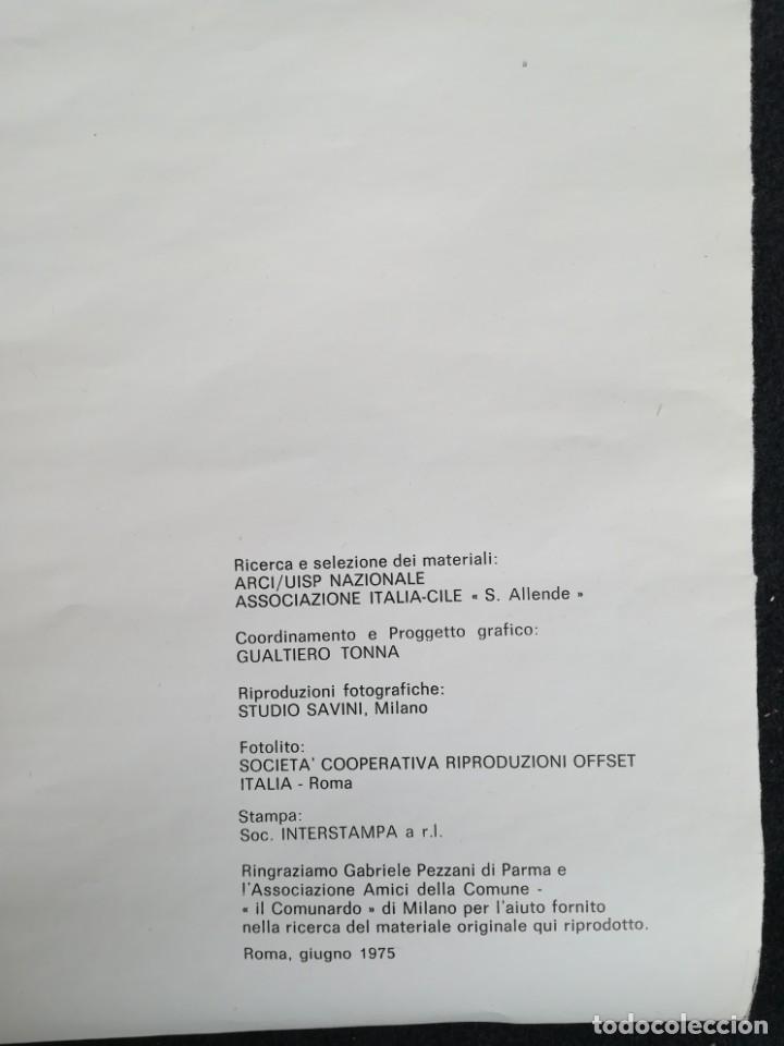 Carteles Políticos: CARTEL 49 x 69 cms. 1975 ASSOCIAZIONE ITALIA-CILE SALVADOR ALLENDE - Foto 14 - 195291217