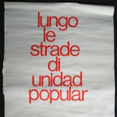 Carteles Políticos: CARTEL 49 X 69 CMS. 1973 ASSOCIAZIONE ITALIA-CILE SALVADOR ALLENDE. Lote 195291393