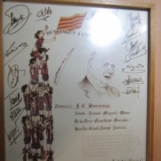 Carteles Políticos: CARTEL BENVINGUT A CASA, PRESIDENT! TARRADELLAS F.C.BARCELONA EDICION LIMITADA 3000 UNIDADES Nº414. Lote 195795316