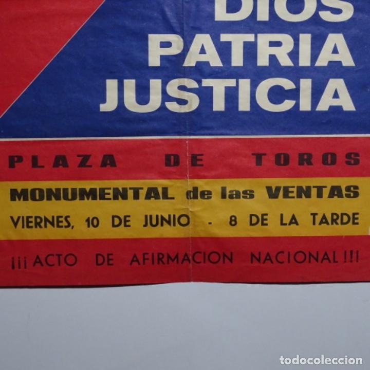 Carteles Políticos: Cartel de fuerza nueva.blas piñar.elecciones 1977.senado de madrid. - Foto 4 - 197475820