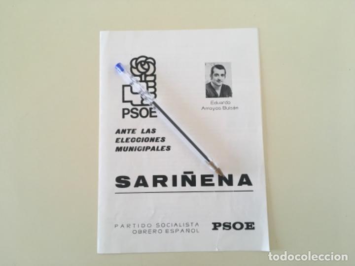 PROPAGANDA PSOE SARIÑENA HUESCA POLÍTICA ... ZKR (Coleccionismo - Carteles gran Formato - Carteles Políticos)