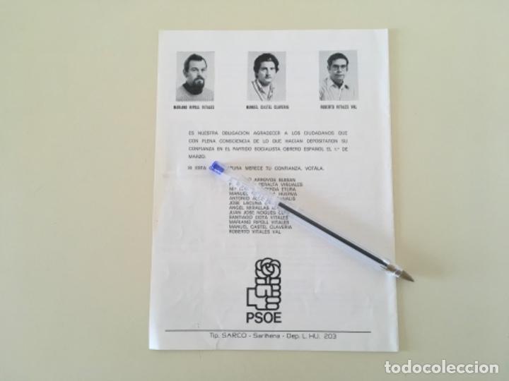Carteles Políticos: Propaganda PSOE SARIÑENA Huesca política ... ZKR - Foto 3 - 198643782