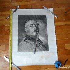 Carteles Políticos: 62 X 50 CMTS. RETRATO GRANDE FRANCO, CAMISA DE FALANGE.HOUSER. MADRID BLAI.ZARAGOZA. Lote 198742938