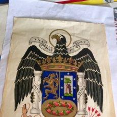 Carteles Políticos: RARO CARTEL POLÍTICO,NACIONAL REVOLUCIONARIO,MADRID FRANQUISTA,FALANGE,COLECCIONISMO. Lote 199051812