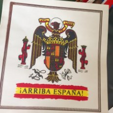 Carteles Políticos: RARO CARTEL POLÍTICO,FRANCO,FALANGE,FUERZA NUEVA,ESCUDO ESPAÑA,TRANSICIÓN,COLECCIONISMO. Lote 199052198