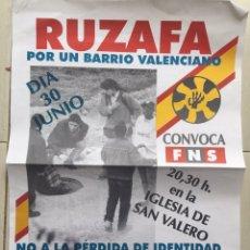 Carteles Políticos: RARO CARTEL POLÍTICO,NACIONAL REVOLUCIONARIO,CRUZ CELTICA,COLECCIONISMO. Lote 199062230