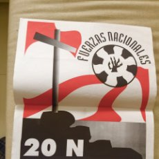 Carteles Políticos: RARO CARTEL POLÍTICO,NACIONAL REVOLUCIONARIO,FRANCO,FALANGE,20 N ,COLECCIONISMO. Lote 199062393