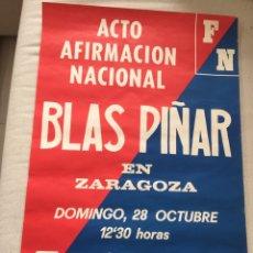 Carteles Políticos: RARO CARTEL POLÍTICO,FUERZA NUEVA,FUERZA JOVEN,UNIÓN NACIONAL,,TRANSICIÓN POLÍTICA,,COLECCIONISMO. Lote 199064092