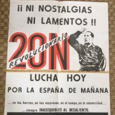 Carteles Políticos: RARÍSIMO CARTEL POLÍTICO,TRANSICIÓN,NACIONAL REVOLUCIONARIO,TERCER FRENTE,VALLADOLID,FALANGE. Lote 199069840