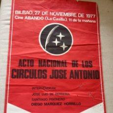 Carteles Políticos: RARÍSIMO CARTEL POLÍTICO,TRANSICIÓN,NACIONAL REVOLUCIONARIO,CIRCULO,JOSE ANTONIO,EUSKADI,FALANGE. Lote 199069967