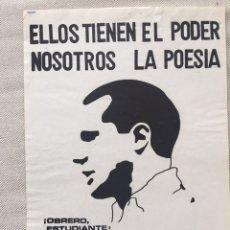 Affiches Politiques: RARÍSIMO CARTEL POLÍTICO,TRANSICIÓN,NACIONAL REVOLUCIONARIO,MOVIMIENTO FALANGISTA DE ESPAÑA,FALANGE,. Lote 199070765