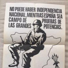 Carteles Políticos: RARÍSIMO CARTEL POLÍTICO,TRANSICIÓN,NACIONAL REVOLUCIONARIO,MOVIMIENTO FALANGISTA DE ESPAÑA,FALANGE,. Lote 199070822