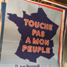Carteles Políticos: RARO CARTEL POLÍTICO FRENTE NACIONAL FRANCÉS,LE PEN,FRANCIA,FNJ. Lote 199123260