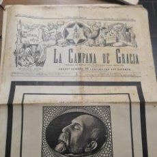 Carteles Políticos: 3931.- LA CAMPANA DE GRACIA -DEDICADA A LA MUERTE DE NICOLAS SALMERON - PRIMERA REPUBLICA. Lote 199577598