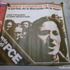 Carteles Políticos: CARTEL POLITICO PLENA TRANSICION AÑO 1977 ORIGINAL VOTA PCE MIDE 64X64 CMS. Lote 200361777