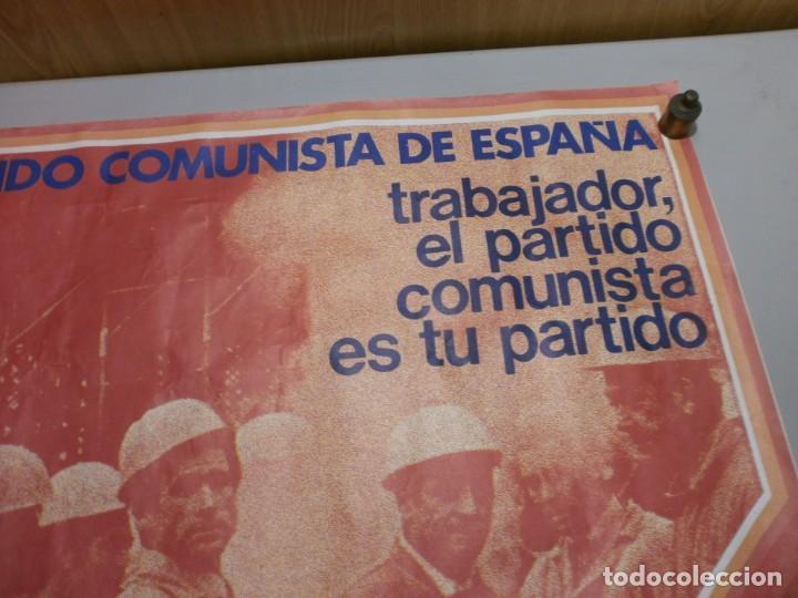 Carteles Políticos: cartel politico plena transicion año 1977 original vota pce mide 64x64 cms - Foto 2 - 200361842