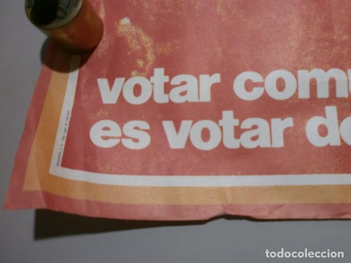 Carteles Políticos: cartel politico plena transicion año 1977 original vota pce mide 64x64 cms - Foto 3 - 200361842