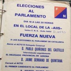 Carteles Políticos: RARO CARTEL POLÍTICO,FUERZA NUEVA,FUERZA JOVEN,FUERZA JOVEN,,TRANSICIÓN POLÍTICA,TAMAÑO FOLIO. Lote 201159738