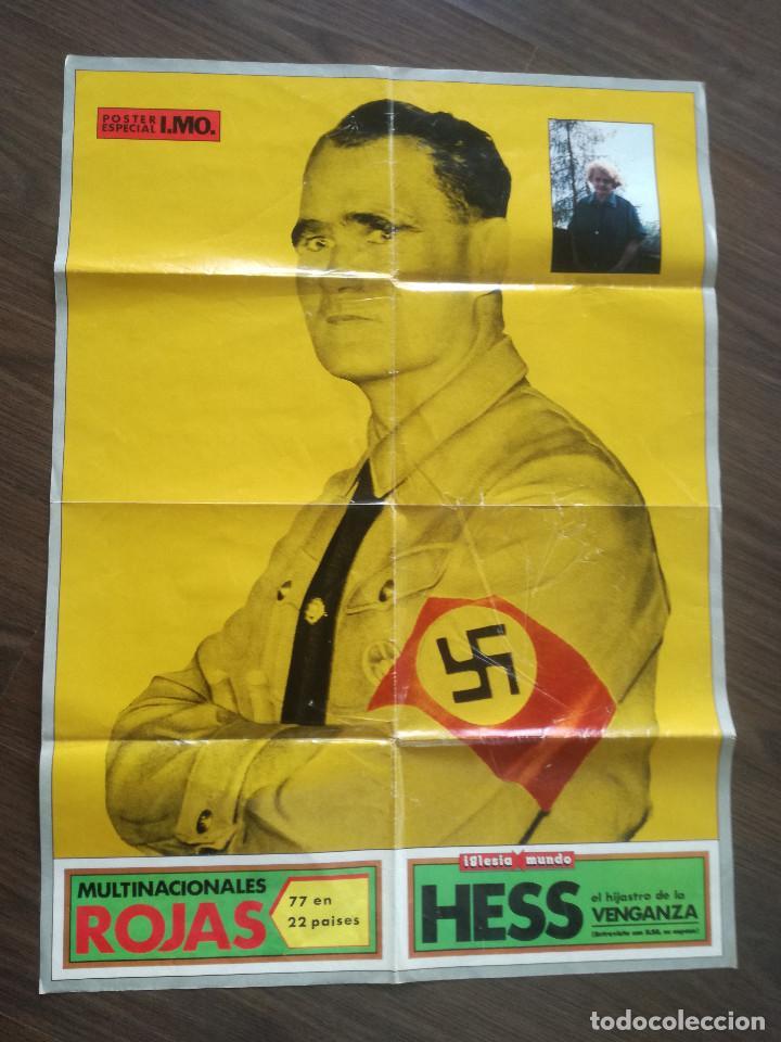 RUDOLF HESS - POSTER ESPECIAL I.M.O. AÑOS 80 // TERCER REICH NAZISMO NACIONAL SOCIALISMO NSDAP WWII (Coleccionismo - Carteles gran Formato - Carteles Políticos)