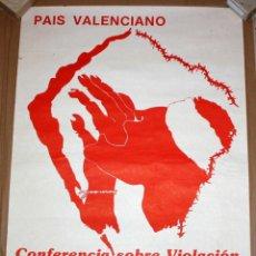 Carteles Políticos: CARTEL CONFERENCIA DERECHOS HUMANOS. 63 CM X 43 CM. Lote 202937855