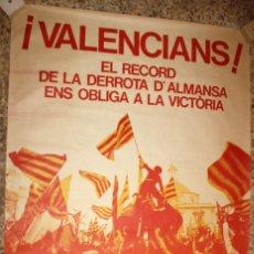 Carteles Políticos: CARTEL ACIÓ CULTURAL DEL PAÍS VALENCIÀ. 110 CM. X 79 CM.. Lote 202941395