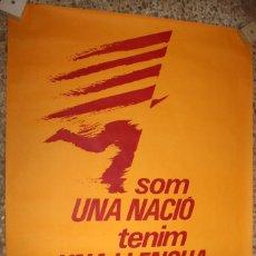 Carteles Políticos: CARTEL ACIÓ CULTURAL DEL PAÍS VALENCIÀ. VI CAMPANYA CARLES SALVADOR. 111,5 CM. X 77 CM.. Lote 202941823