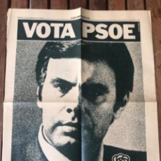 Carteles Políticos: ANUNCIO VOTA PSOE FELIPE GONZÁLEZ Y PRESIDENTE ADOLFO SUÁREZ UCD. ELECCIONES GENERALES 1979.. Lote 204398140