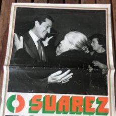 Carteles Políticos: PRESIDENTE ADOLFO SUÁREZ UCD EN CAMPAÑA. ELECCIONES GENERALES 1979.. Lote 204398682