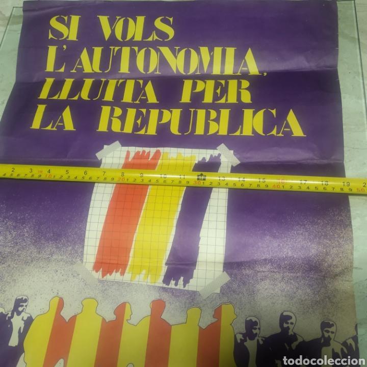 Carteles Políticos: Cartel República comunista de España bandera roja - Foto 2 - 204709833