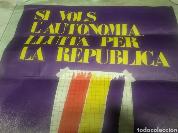 Carteles Políticos: Cartel República comunista de España bandera roja - Foto 4 - 204709833